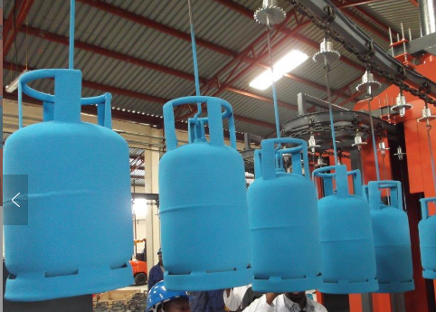 Powder Coating System for LPG Tank
