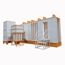 Multi-cyclone Powder Coating Booth, Fast Cleaning Automatic Powder Coating Booth